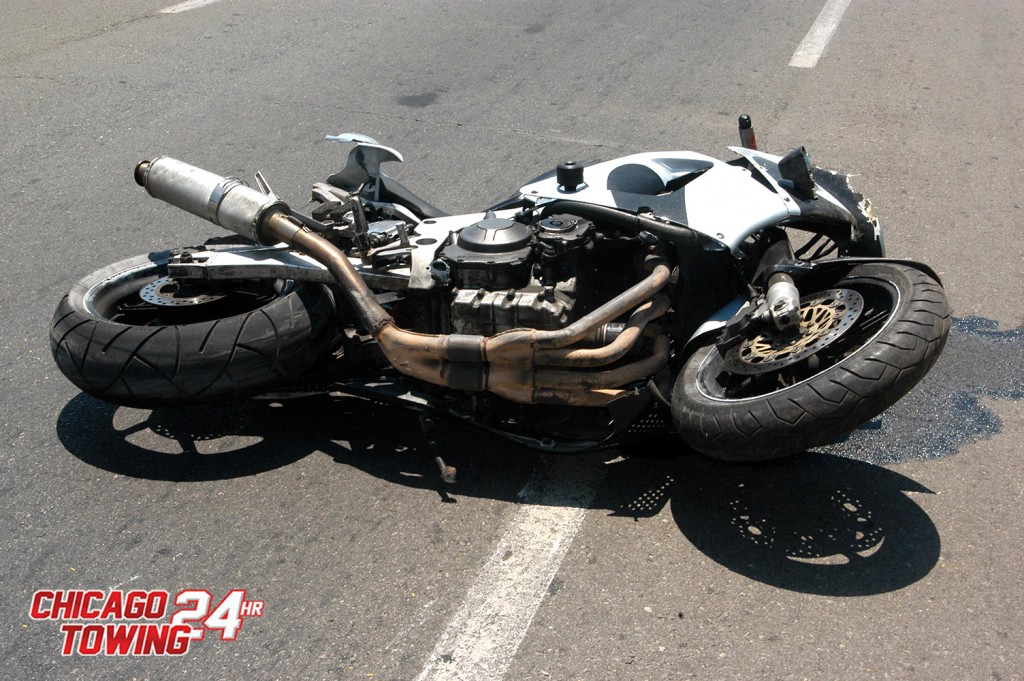 ASHKELON, ISR - JULY 22: Motorbike accident on July 22 2006. Motorcycles have a higher fatality rate per unit of distance travelled when compared with automobiles.